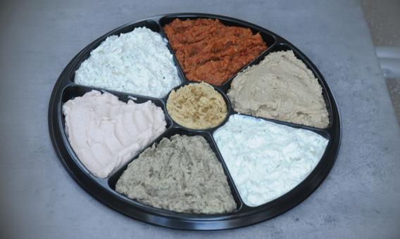 Plateau de caviar de légumes